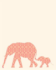 Elephant Silhouette Poster PDF The Little SheNut by ShopLuLus, $10.00----I want this! MOM look! @Tami Arnold Prause