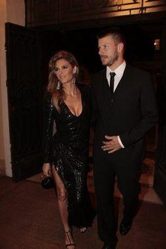 Fernanda Lima e Rodrigo Hilbert  no baile de gala da amfAR (Foto: Isac Luz / EGO)