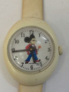 Rare Vintage Mickey Mouse 1970 Watch Bubble Face NON-WORKING Swiss Adorable