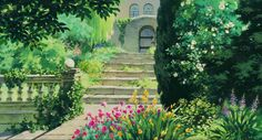 Beautiful (high-resolution) hand-painted scenes from Miyazaki films. [x-post from r/movies] - Album on Imgur