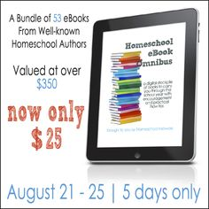 A huge amount of homeschooling books on a bundle sale right now