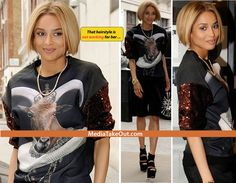 Ciara wears Illuminati-Satanic-Baphomet clothing- Crown on a Goat Head symbolic of who she considers King of this World