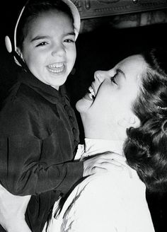 """ ""Liza Minnelli with her mother Judy Garland, ca. 1951. "" """