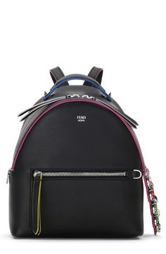 Fendi Crystal Embellished CrocTail Mini Backpack
