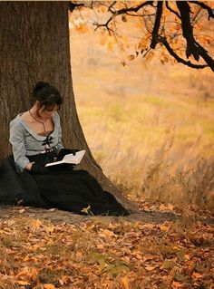 Autumn reading. a perfect activity for a perfect autumn day