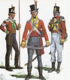 """Sergente inglese dei reparti di personale di colore della """"West India"""" e ufficiale e fuciliere del 3 rgt. fanteria inglese """"West India"""""""