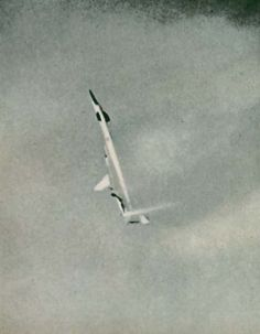 XB-70 falling to the ground after midair collision