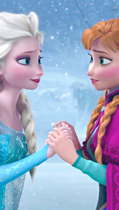 My favorite movie is Frozen.it's kind of a mini description of my life almost with my mom being Elsa. Frozen Disney, Frozen And Tangled, Frozen Movie, Frozen Elsa And Anna, Disney Magic, Elsa Anna, Frozen 2013, Frozen Heart, Disney Films