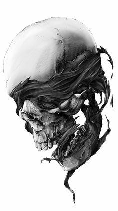 Tattoo Design Drawings, Tattoo Sketches, Tattoo Designs, Dark Drawings, Cool Drawings, Skull Reference, Totenkopf Tattoos, Skull And Bones, Skeleton Bones