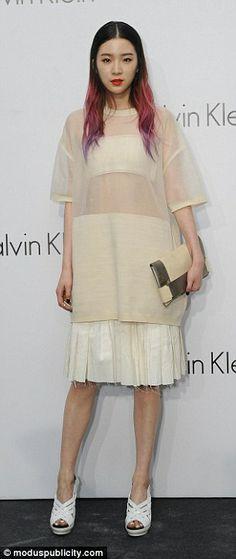 Irene Kim in Calvin Klein
