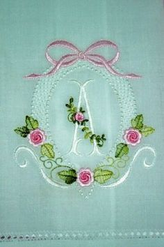 A very pretty embroidered initial