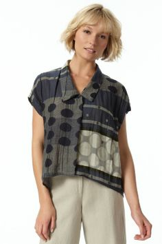 Cap Sleeve Shirt in Galaxy Front
