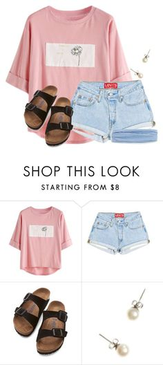 """~feel good~"" by flroasburn ❤ liked on Polyvore featuring Birkenstock and J.Crew"