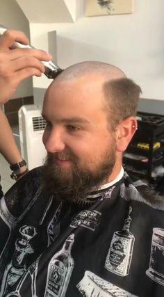 Shaved Head, Haircuts For Men, Shaving, Hair Cuts, Chair, Bearded Guys, Short Hair Up, Man Haircuts, Haircuts