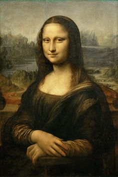 Paint is the medium used in this picture. It's impossible to bring up Da Vinci without bringing up his most famous work, The Mona Lisa.