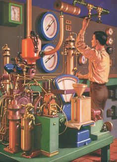 1950s science lab with engineer science by theStoryOfVintage, $27.95