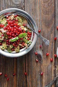 Bulgur Wheat Salad with Pomegranate + Walnut by An Edible Mosaic