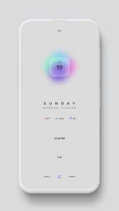 [Promotion] Air theme for KLWP - kustom Android App Design, App Ui Design, Mobile App Design, Layout Design, Interface Design, Themes For Mobile, Digital Communication, Phone Wallpaper Design, App Design Inspiration