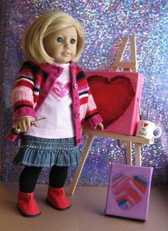 This blog has lots of ideas for making American Girl doll clothing and accessories. She's a much more talented seamstress than I am, but I love the ideas!