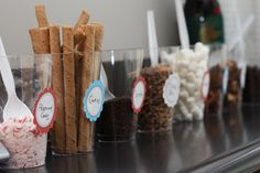 Chocolate Bar for Christmas party or Christmas eve or leave setting up all Christmas Caramel Choc'Mallows