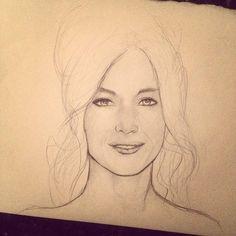 Sketch of @nataliezea #art #draw2live