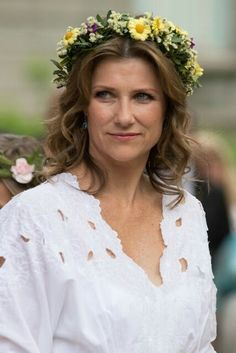 Princess Martha Louise At The Garden Party In Trondheim. June 23, 2016. Celebrating King Harald Silver Jubilee.