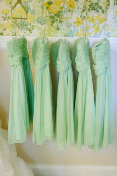love the color of these bridesmaid dresses!