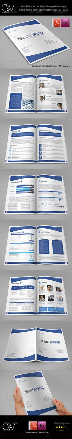 Company Proposal Brochure Template Vol3 Brochure template - it services proposal template