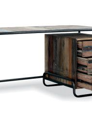 upcycled boat wood - into a fab writing desk. vintage wood and metal