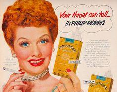 Lucille Ball for King Size Phillip Morris 1953