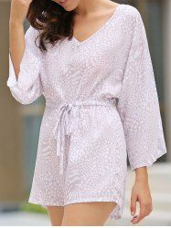 SHARE & Get it FREE | Chic V-Neck Printed Waist Drawstring Romper For WomenFor Fashion Lovers only:80,000+ Items • New Arrivals Daily • Affordable Casual to Chic for Every Occasion Join Sammydress: Get YOUR $50 NOW!