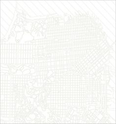 Embroidered San Francisco map quilt by Haptic Lab. A bit hard to see in the photo seeing as it's white on white but very lovely none the less :)