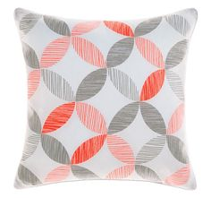 Tika Coral Cushion by Savona Bed Linen Design, Quilt Cover Sets, Textile Artists, Linen Bedding, Coral, Cushions, Throw Pillows, Quilts, House