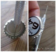 Crissy's Crafts: Bottle Cap Bracelet