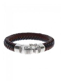 Buddha to Buddha, Ben Leather Bracelet, blk/brn mix