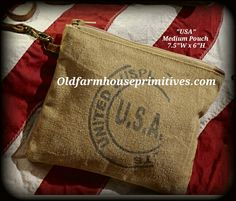 """""""Mona B"""" USA Stamp Collection  (Medium Pouch)"""