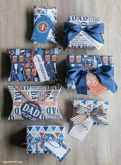 DIY Father's Day Printable Wrapping Paper