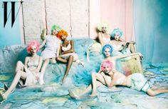 Photographer: Jang Hyun Hong  Magazine: W Korea  Date: March, 2012  Stylist: Karina Givargisoff  Model: Anais Mali, Crystal Renn, Hanne Gaby Odiele, Hyoni Kang, Julia Nobis, Maryna Linchuk, Valerija Kelava  (Source: Studded Hearts)
