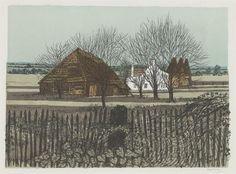 Robert Tavener: Old Barn and Farm, Tenterden
