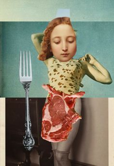 """Emmanuel Chaussade: Waldemar Strempler """"momma meat-a"""" Art Du Collage, Soul Collage, Image Collage, Mixed Media Collage, Digital Collage, Digital Portrait, Collages, Photomontage, Man Ray"""