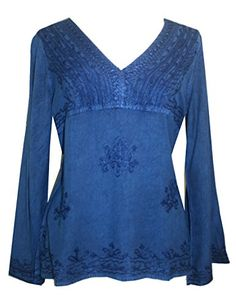 112B Agan Traders Gypsy Medieval Embroidered Relax Tunic Top Blouse (M, Blue) Agan Traders http://www.amazon.com/dp/B00NCBF97S/ref=cm_sw_r_pi_dp_RpoIub05085QG