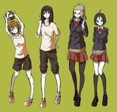 Fem!KageHIna & Fem!TsukiYama