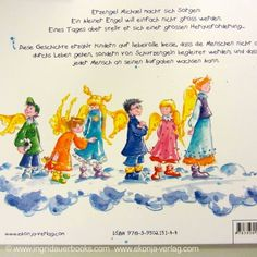 """Der kleine Engel der nicht wachsen wollte"" (The little angel who didn't want do grow) - Angel book for kids, illustrated by Conny Wolf; available in GERMAN and DUTCH language  www.ekonja-verlag.com"