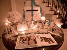 Winter Wonderland Sweet 16 Greeting table - Vanessa Grant Events