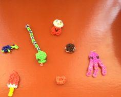 Rainbow loom snake ,ice cream ,heart,cookie , gum machine and turtle