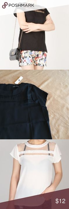 HP Black cap sleeve sheer hi-low blouse Black cap sleeve sheer hi-low blouse. XL Measurement from armpit to armpit is approx 19 in. Length from top of shoulder to bottom is approx 22 in in front & approx 25 in in back. Boutique Tops Blouses