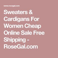Sweaters & Cardigans For Women Cheap Online Sale Free Shipping - RoseGal.com