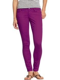 I recently acquired my own purple pants - they are super comfortable and affordable :)  Old Navy Rockstar Super Skinny Jeans - now in 31 colors