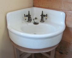 "corner earthenware sink MJT -LOVE IT! Corner Earthenware Sink Light Crazing 20"" x 20"" 25"" from Front to Back"