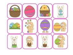 Free! Easter Barrier Game for concepts, following directions, asking and answering ?, etc.